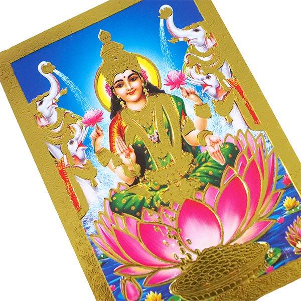 インド 神様 ポストカード(ラクシュミー ブルー)【画像3】