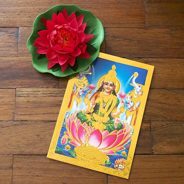 インド 神様 ポストカード(ラクシュミー ブルー)【画像4】