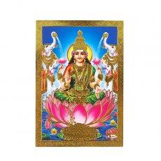 インド 神様 ポストカード(ラクシュミー ブルー)