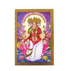 トリ (鳥) 雑貨 インド 神様 ポストカード(ガーヤトリー パープル)