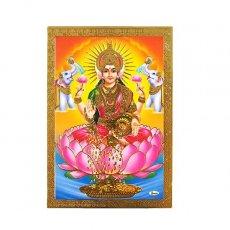 インド 神様 ポストカード(ラクシュミー オレンジ)