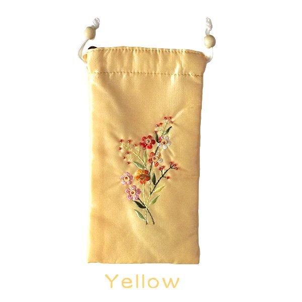 ベトナム 花刺繍 メガネケース B(紐付き 斜めがけOK)【画像3】