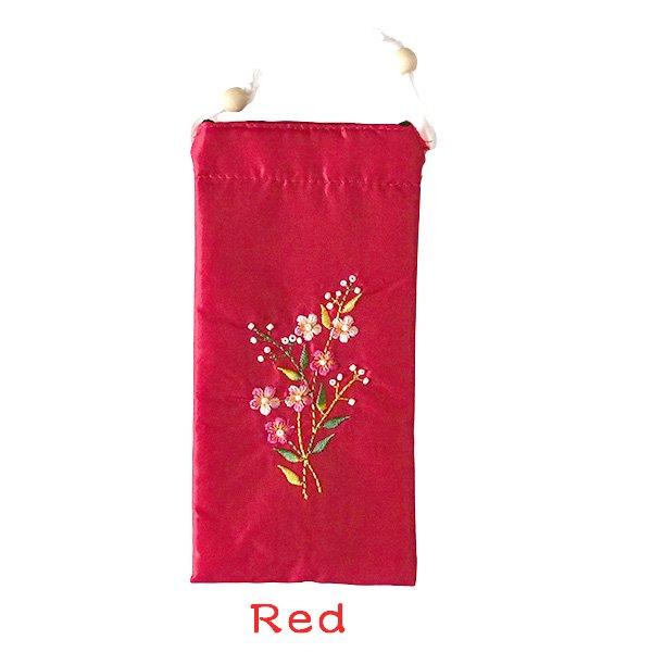 ベトナム 花刺繍 メガネケース B(紐付き 斜めがけOK)【画像4】