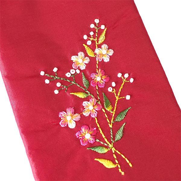 ベトナム 花刺繍 メガネケース B(紐付き 斜めがけOK)【画像5】