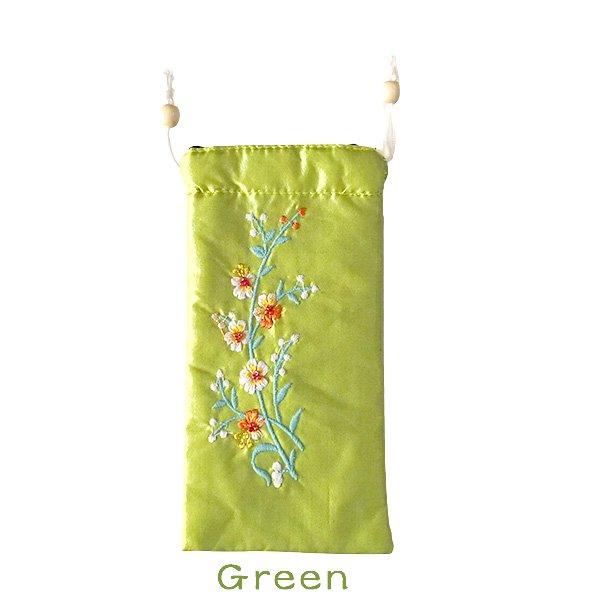 ベトナム 花刺繍 メガネケース C(紐付き 斜めがけOK)【画像2】