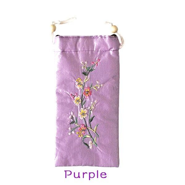 ベトナム 花刺繍 メガネケース C(紐付き 斜めがけOK)【画像3】