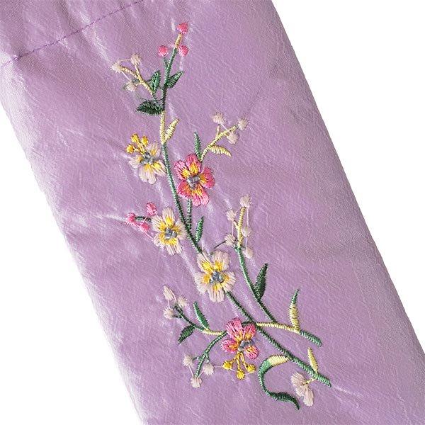 ベトナム 花刺繍 メガネケース C(紐付き 斜めがけOK)【画像4】
