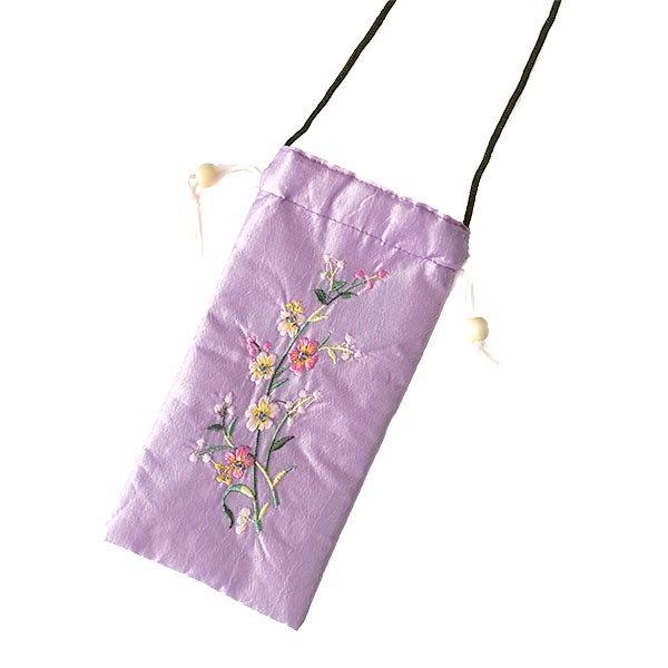 ベトナム 花刺繍 メガネケース C(紐付き 斜めがけOK)【画像5】