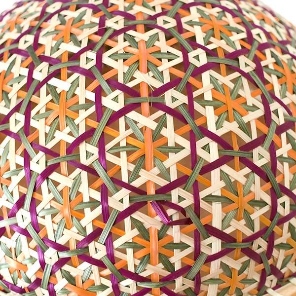 ベトナム 竹 フードカバー (花編み ざるなし 直径約32cm)【画像3】