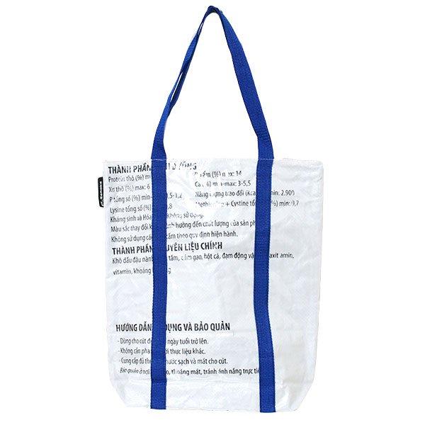 【NEW シリーズ】ベトナム 飼料袋 リメイク ショルダーバッグ(ビニールコーティング マチ付き アヒル レッド)【画像2】