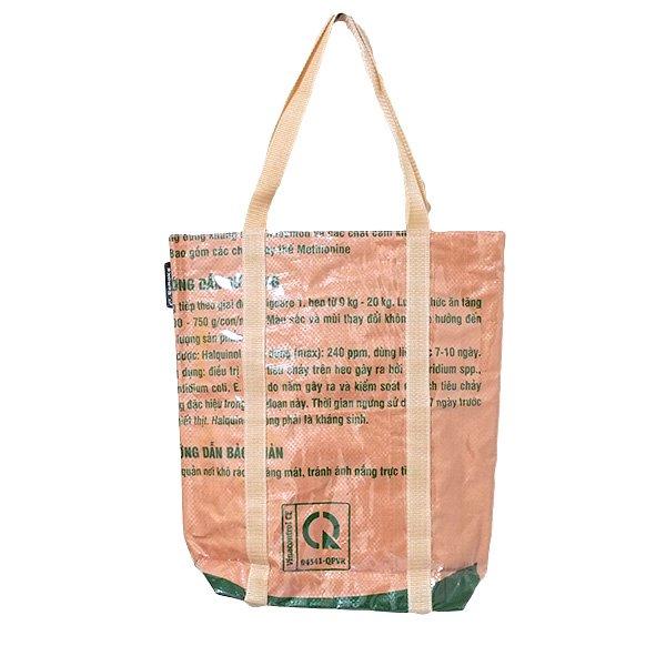 【NEW シリーズ】ベトナム 飼料袋 リメイク ショルダーバッグ(ビニールコーティング マチ付き トリ ブラウン)【画像2】