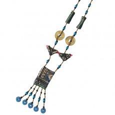 モン族 古布ネックレス(B)民族 刺繍 / ベトナム直輸入