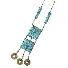 ベトナム 少数民族 モン族 古布ネックレス(C)民族 刺繍 / ベトナム直輸入