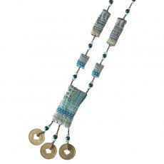 ベトナム 少数民族 モン族 古布ネックレス(D)民族 刺繍 / ベトナム直輸入