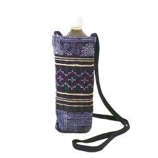 ベトナム モン族 刺繍 ペットボトル フォルダー パープル (1リットル)