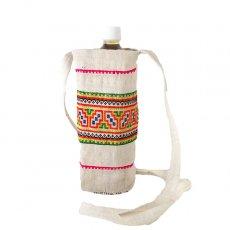 ベトナム モン族 刺繍 ペットボトル フォルダー ホワイト (1リットル)