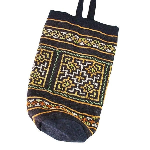 ベトナム モン族 刺繍 ペットボトル フォルダー ブラック (1リットル)【画像2】