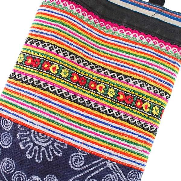 ベトナム モン族 刺繍 ペットボトル フォルダー オレンジ (1リットル)【画像3】
