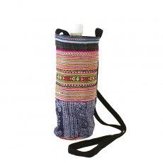 ベトナム モン族 刺繍 ペットボトル フォルダー オレンジ (1リットル)
