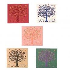 インド  chimanlals (チマンラール) メッセージカード KALPAVRIKSH  (5色 封筒付き)