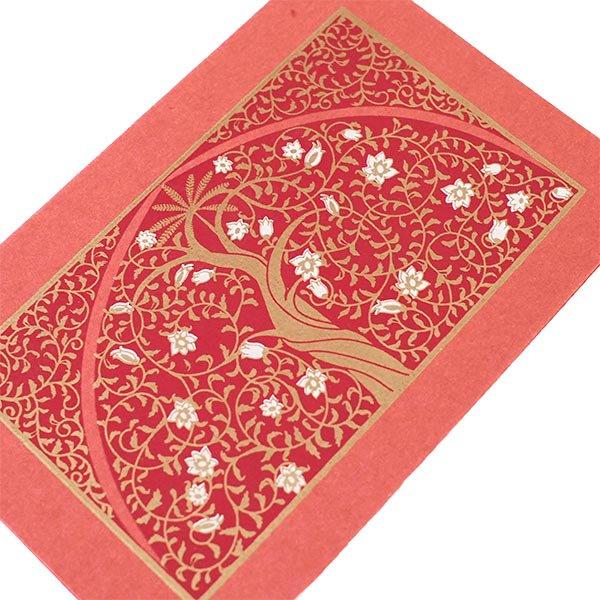 インド  chimanlals (チマンラール) メッセージカード UPAVAN  (5色 封筒付き)【画像2】