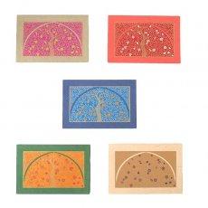 インド  chimanlals (チマンラール) メッセージカード UPAVAN  (5色 封筒付き)