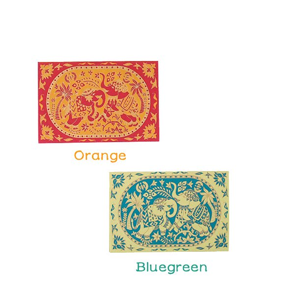 インド  chimanlals (チマンラール) メッセージカード KARINDA  (5色 封筒付き)【画像3】