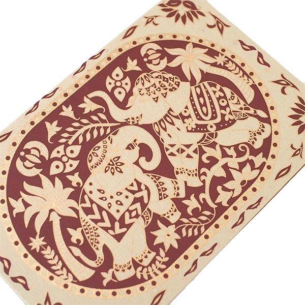 インド  chimanlals (チマンラール) メッセージカード KARINDA  (5色 封筒付き)【画像4】