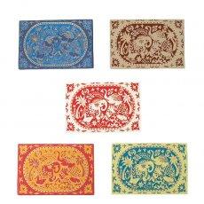 インド  chimanlals (チマンラール) メッセージカード KARINDA  (5色 封筒付き)