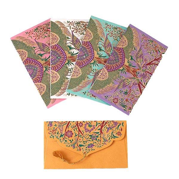 インド chimanlals(チマンラール)封筒 MOHANA(トリ 5色)