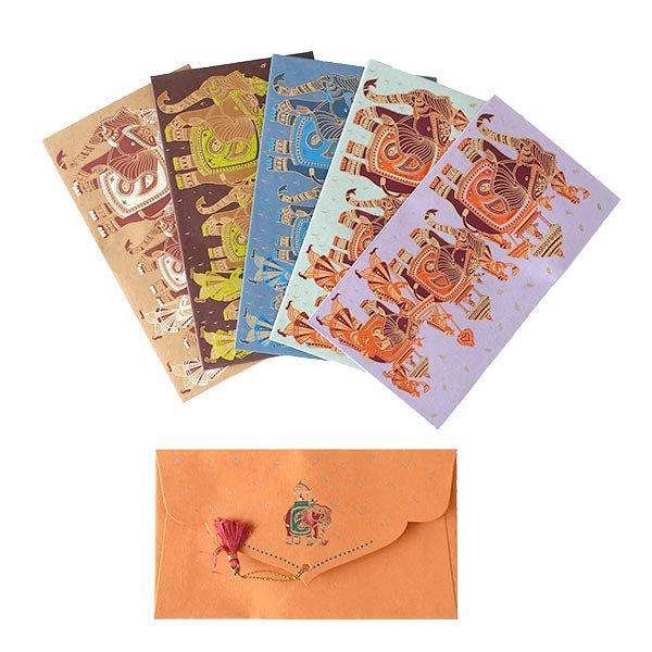 インド chimanlals(チマンラール)封筒 KUNJAR(ゾウ 5色)