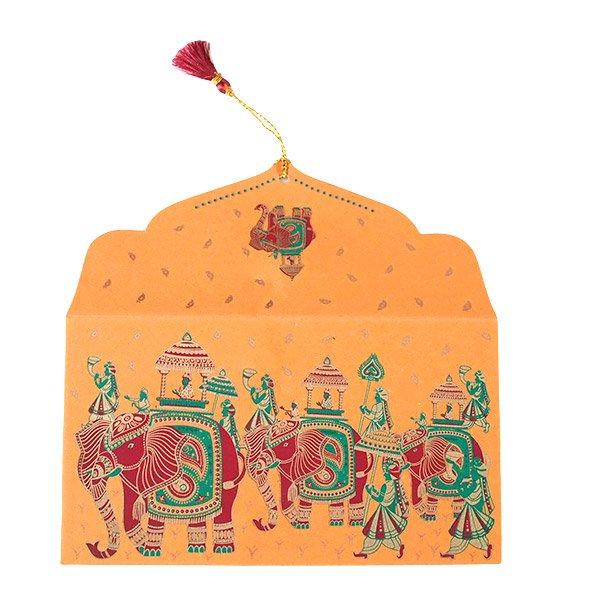 インド chimanlals(チマンラール)封筒 KUNJAR(ゾウ 5色)【画像2】