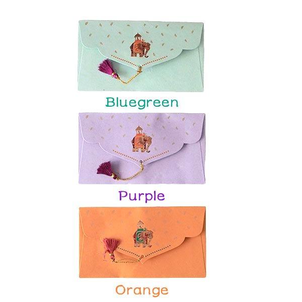 インド chimanlals(チマンラール)封筒 KUNJAR(ゾウ 5色)【画像4】