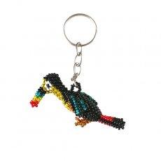 トリ (鳥) 雑貨 メキシコ ビーズキーホルダー オオハシ