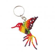 メキシコ ビーズキーホルダー ハチドリ