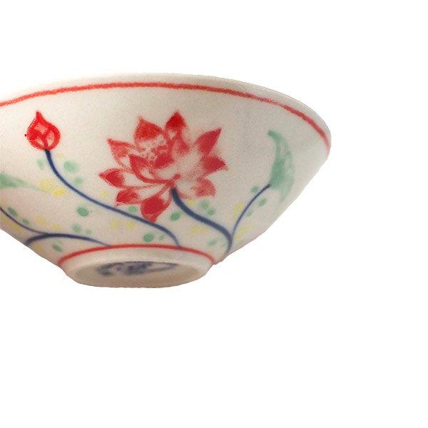 ベトナム バッチャン焼き 手描き  蓮  小鉢【画像6】