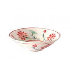 ベトナム バッチャン焼き 手描き  蓮  小皿