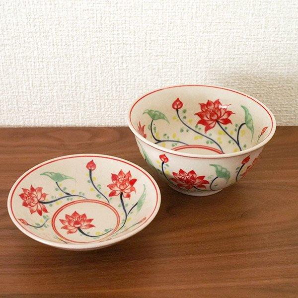 ベトナム バッチャン焼き 手描き  蓮  お茶碗【画像6】