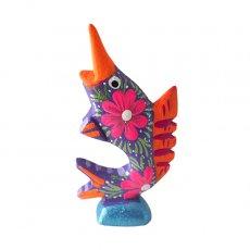 アレブリヘス メキシコ ウッドカービング アレブリヘス(魚 パープル)