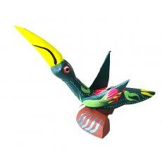 トリ (鳥) 雑貨 メキシコ ウッドカービング アレブリヘス(トリ D)