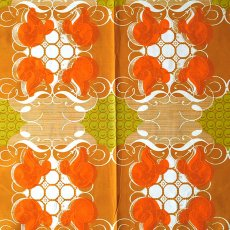 アフリカン プリント布 パーニュ 115×90 カットオフ(レトロな模様)