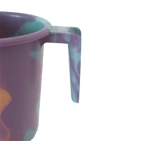 セネガル プラスチックコップ(1リットル パープル×ターコイズ)【画像3】
