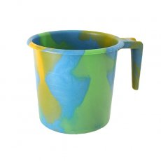 アフリカ 雑貨 セネガル プラスチックコップ(1リットル ブルー×グリーン)
