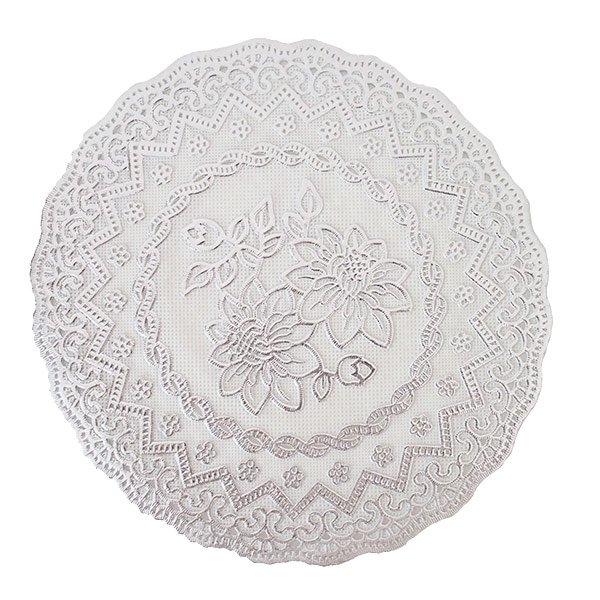 ベトナム 花柄 マット(シルバー・ゴールド 2色 直径約16cm)【画像5】