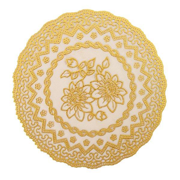 ベトナム 花柄 マット(シルバー・ゴールド 2色 直径約16cm)【画像6】