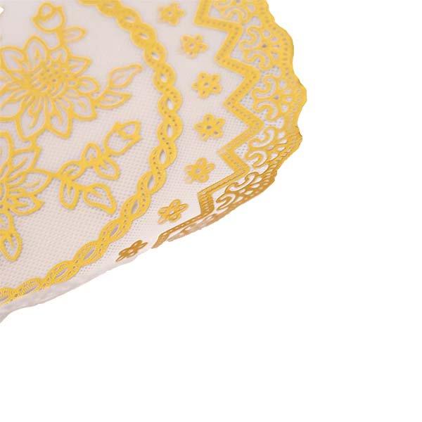 ベトナム 花柄 マット(シルバー・ゴールド 2色 直径約20cm)【画像7】