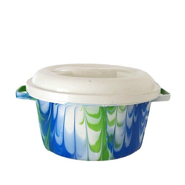 セネガル プラスチック蓋付きの桶(ブルー B)