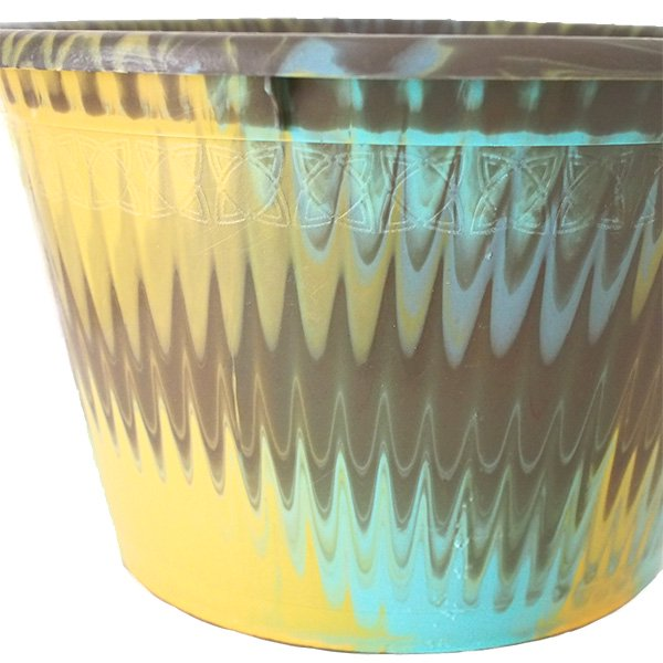 セネガル プラスチック持ち手付きの桶(カーキ  12リットル)【画像2】