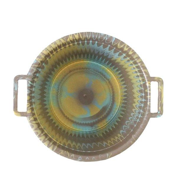 セネガル プラスチック持ち手付きの桶(カーキ  12リットル)【画像3】