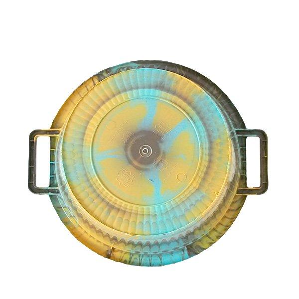 セネガル プラスチック持ち手付きの桶(カーキ  12リットル)【画像4】
